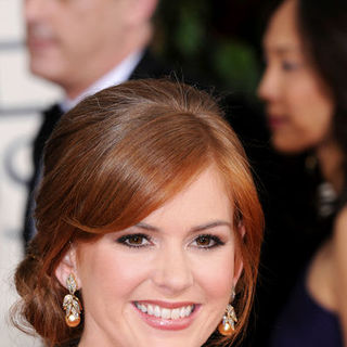 Isla Fisher in 66th Annual Golden Globes - Arrivals - BBC-001518