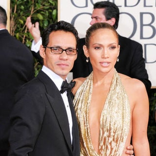 Marc Anthony, Jennifer Lopez in 66th Annual Golden Globes - Arrivals