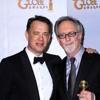 Tom Hanks, Gary Goetzman in 66th Annual Golden Globes - Press Room