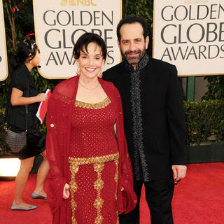 Tony Shalhoub, Brooke Adams in 66th Annual Golden Globes - Arrivals