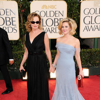 Jessica Lange, Drew Barrymore in 66th Annual Golden Globes - Arrivals