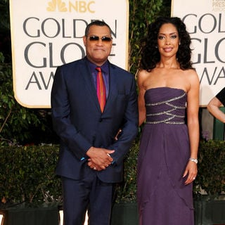 Laurence Fishburne, Gina Torres in 66th Annual Golden Globes - Arrivals