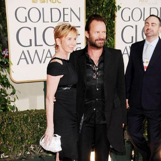 Sting, Trudie Styler in 66th Annual Golden Globes - Arrivals