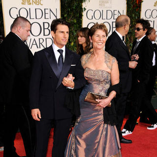 Tom Cruise, Mary Lee Mapother in 66th Annual Golden Globes - Arrivals