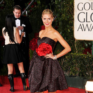 Heidi Klum in 66th Annual Golden Globes - Arrivals
