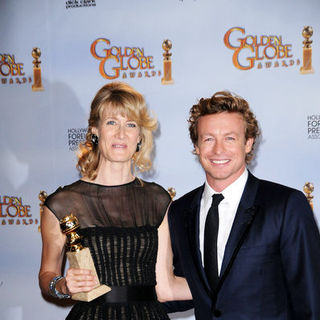 Laura Dern, Simon Baker in 66th Annual Golden Globes - Press Room