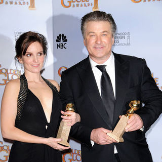 Tina Fey, Alec Baldwin in 66th Annual Golden Globes - Press Room