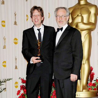 Christian Colson, Steven Spielberg in 81st Annual Academy Awards - Press Room