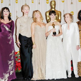 Anjelica Huston, Tilda Swinton, Goldie Hawn, Penelope Cruz, Eva Marie Saint, Whoopi Goldberg in 81st Annual Academy Awards - Press Room