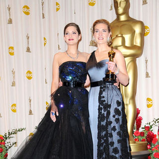 Marion Cotillard, Kate Winslet in 81st Annual Academy Awards - Press Room