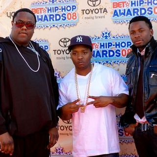 Jamal Woolard, Lil' Cease, Derek Luke in 2008 BET Hip Hop Awards - Arrivals