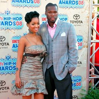 Angel Lola Luv, 50 Cent in 2008 BET Hip Hop Awards - Arrivals