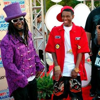 T-Pain, Soulja Boy in 2008 BET Hip Hop Awards - Arrivals