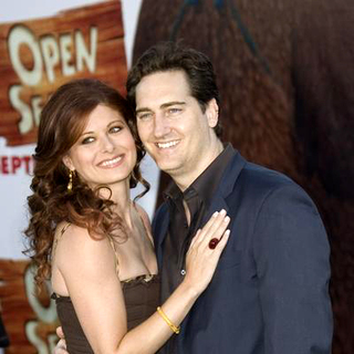 Debra Messing, Daniel Zelman in Open Season Los Angeles Premiere - Red Carpet