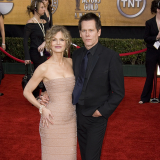 Kevin Bacon, Kyra Sedgwick in 13th Annual Screen Actors Guild Awards - Arrivals