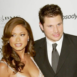 Nick Lachey, Vanessa Minnillo in 2007 Clive Davis Pre-Grammy Awards Party