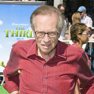 Larry King in Shrek The Third - Los Angeles Movie Premiere - Arrivals