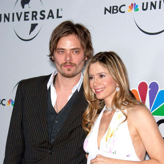 Christopher Backus, Mira Sorvino in 66th Annual Golden Globes NBC After Party - Arrivals