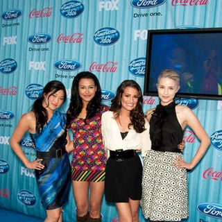 Dianna Agron, Jenna Ushkowitz, Naya Rivera, Lea Michele in American Idol Top 13 Party - Arrivals
