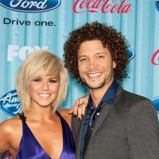 Justin Guarini, Kimberly Caldwell in American Idol Top 13 Party - Arrivals