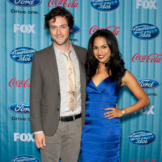 Brendan Hines, Monica Raymund in American Idol Top 13 Party - Arrivals