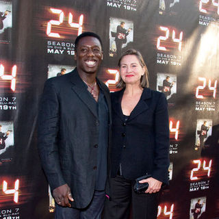"Cherry Jones, Hakeem Kae-Kazim in ""24"" Season Seven Finale and DVD Release Party - Arrivals"