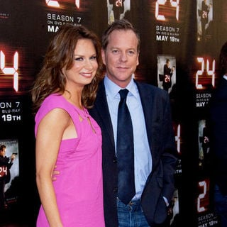 "Kiefer Sutherland, Mary Lynn Rajskub in ""24"" Season Seven Finale and DVD Release Party - Arrivals"