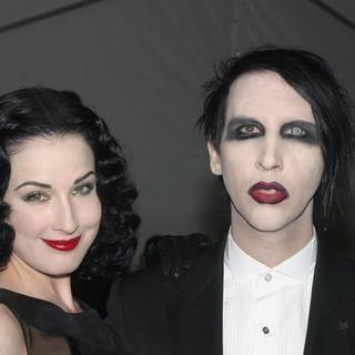 Marilyn Manson, Dita Von Tees in AngloMania Costume Institute Gala at The Metropolitan Museum of Art - Arrivals