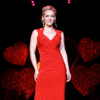 Hilary Duff in Mercedes-Benz Fashion Week Fall 2009 - Heart Truth's Red Dress Collection Fashion Show - Runway