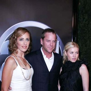 Kim Raver, Kiefer Sutherland, Elisha Cuthbert in 24 100th episode & 5th season premiere party