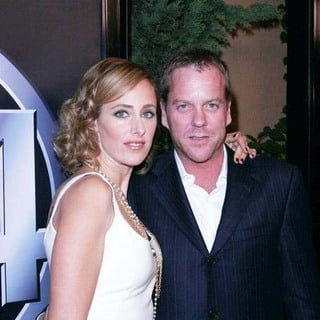 Kim Raver, Kiefer Sutherland in 24 100th episode & 5th season premiere party
