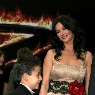 Catherine Zeta-Jones, Adrian Alonso in The Legend of Zorro Los Angeles Premiere - Red Carpet