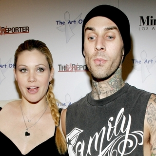 "Blink-182, Shanna Moakler in The Art of Elysium Presents Russel Young ""fame, shame, and the realm of possibility"