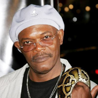 Samuel L. Jackson in Snakes on a Plane Los Angeles Premiere