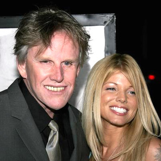 Donna D'Errico, Gary Busey in The Queen Los Angeles Premiere