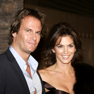 Rande Gerber, Cindy Crawford in The Good German Hollywood Premiere