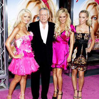 "Holly Madison, Hugh Hefner, Bridget Marquardt, Kendra Wilkinson in ""The House Bunny"" Los Angeles Premiere - Arrivals"