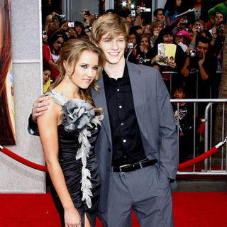 "Emily Osment, Lucas Till in ""Hanna Montana: The Movie"" World Premiere - Arrivals"