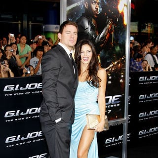 "Channing Tatum, Jenna Dewan in ""G.I. Joe: Rise of Cobra"" Los Angeles Premiere - Arrivals"