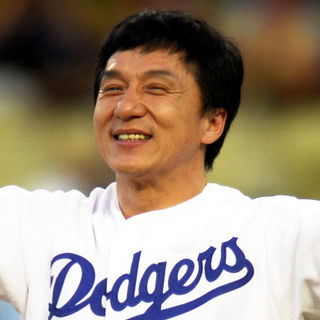 Jackie Chan in 2008 MLB - San Diego Padres at Los Angeles Dodgers (1-11) - April 12, 2008