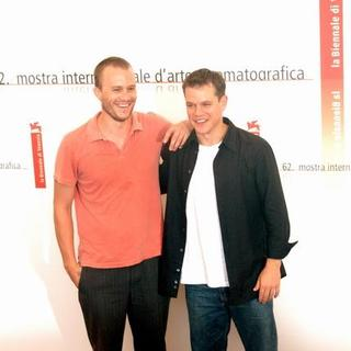 Heath Ledger, Matt Damon in 2005 Venice Film Festival - The Brothers Grimm Photocall