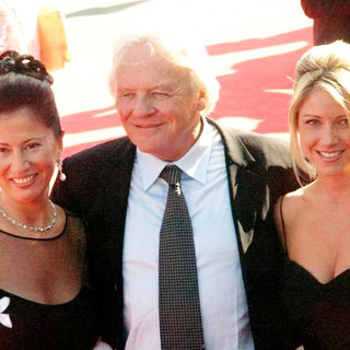 Anthony Hopkins, Stella Arroyave, Lisa Pepper in 2005 Venice Film Festival - Proof Premiere