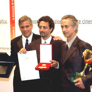 George Clooney, David Strathairn, Grant Heslov in 2005 Venice Film Festival - Golden Lion Award