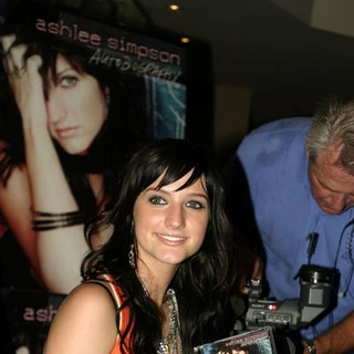 Ashlee Simpson - CD Release Signing For Autobiography