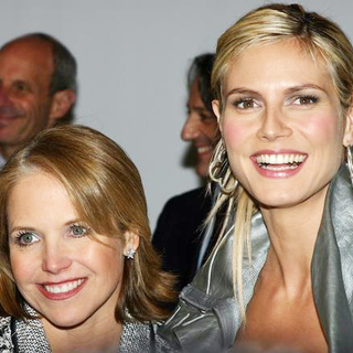 Katie Couric in Olympus Fashion Week Fall 2005 Day 1 - JTM-005852