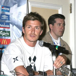 David Beckham - David Beckham Press Conference Prior To The Match Between Columbia And England At Giants Stadium