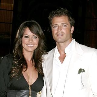 Brooke Burke, David Charvet in Olympus Fashion Week Spring 2006 - Tommy Hilfiger 20th Anniversary Celebration - Arrivals