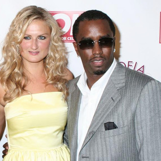 Diddy, Sarah Ivens in Jessica Simpson and Diddy Host The Launch of OK! Magazine