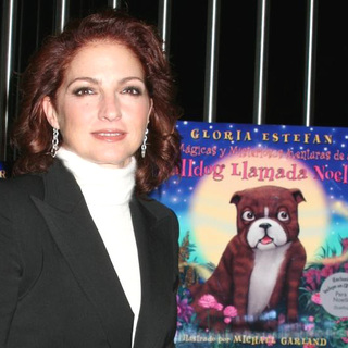 Gloria Estefan in Gloria Estefan Signs Her Book Noelle the Bulldog at Gypsy Tea in New York City