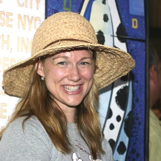 Laura Linney in 2004 Broadway Barks 6 Adopt-a-Thon